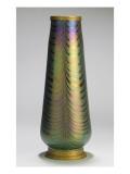 Vase à décor de plumes de paon