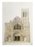 Vezelay  église  façade avant restauration