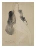 Femme assise nue sous une veste