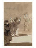 Deux figures et une apparition d'homme : Hamlet et le spectre de son père; d'après Shakespeare