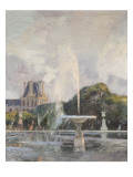 Jet d&#39;eau aux Tuileries