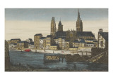 Vue de Rouen et de l&#39;&#233;glise de Saint Ouen