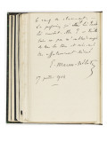 Volume III : Lettre-autographe   17-jui-1904
