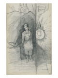 Woman Standing  Facing Forward  Right  a Star Shining
