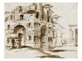 Vue de l'arc de Janus quadrifons à Rome