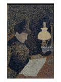 Femme sous la lampe