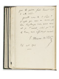 Volume III : Lettre-autographe   26 oct1904