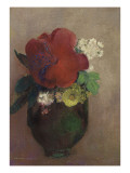 Vase de fleurs  pavot rouge