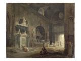 Vue d'une salle du musée des Monuments Français