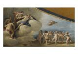 Vénus entourée de nymphes contemplant une ronde de cupidon