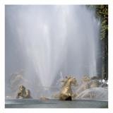 Vue du parc: bassin d'Apollon: Le char d'Apollon  1668-1670