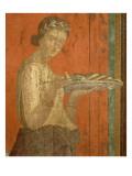 Du triclinium (chambre) de la villa des Mystères à Pompéi Dionysos enfant