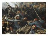 Episode du siège de Sébastopol pendant la guerre de Crimée en 1855  gorge de Malakoff
