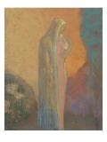 Femme voilée debout