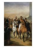 Le duc d'Orléans  lieutenant général du Royaume reçoit à la barrière du trô
