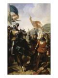 Bataille de Cocherel  prés d'Evreux gagnée par Du Guesclin sur les troupes du roi de Navarre  le