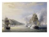 Attaque d'Alger par la mer  flotte française commandée par l'amiral Duperré  le 3 juillet 1830