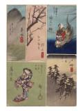 4ème vue : Kanagawa ; 5ème vue : Hodogaya ; 6ème : Totsuka ; 7ème vue : Fujisawa ; 8ème vue :