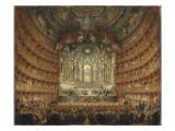 Fête musicale donnée par le cardinal de la Rochefoucauld au théâtre Argentina de Rome le 15