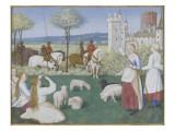 Suffrage des Saints du Livre d'Heures d'Etienne Chevalier : Sainte Marguerite et Olibrius dit