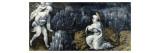 Plaque rectangulaire provenant d'un coffret : Histoire de Daniel : Daniel dans la fosse aux lions