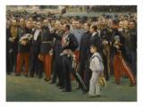 Réception des maires de France dans les jardins du palais de l'Elysée à l'o
