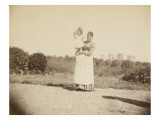 Young Boy in the Arms of His Nurse in the Park Madron