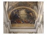 Chapelle Royale  vue intérieure: Cul de four au-dessus da la tribune : La descente du Saint Esprit