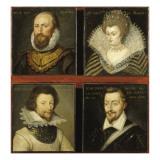 Quatre tableaux de la galerie de Saint-Germain-Beaupré : M de Sully  Mme de Moret  M de
