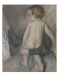 Young Woman Carrying a Naked Child or at the Window