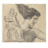 Jeune femme nue fuyant