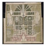 """Recueil des """"Plans des châteaux et parcs de Versailles  Trianon et Marly vers 1732"""" ; Relié aux"""