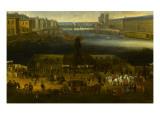 Vue perspective No2 de la Seine de Paris sur le palais du Louvre  depuis le Pont Neuf vers 1666