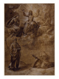 Le Christ en gloire entre la Vierge et Saint Jean-Baptiste  et avec Saint Paul et Sainte Catherine