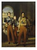 Portraits en pied de Louis-Philippe  duc d'Orléans en uniforme de colonel-g