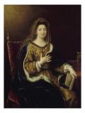 Françoise d'Aubigné  marquise de Maintenon  représentée en Sainte Françoise Romaine vers 1694