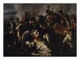 Le maréchal Lannes mortellement blessé près d'Essling le 22 mai 1809 (mort le 31 mai suivant) -