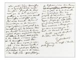 Lettre autographe signée à Berryer  Champrosay  vendredi soir Octobre 1861
