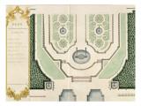 """Recueil des """"Plans des châteaux et jardins de Versailles en 1720"""" ; Composé pour Louis-Antoine de"""