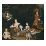 Madame de Montespan  le duc du Maine  le comte de Véxin  mademoiselle de Nantes et mademoiselle de