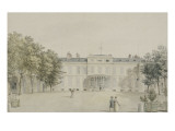 """Recueil de 21 vues de Paris et de ses environs : """"château de Saint-Leu Façade sur cour avec"""