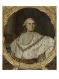 """Chambre de la Reine : dessus de glace (entre-fenêtres) : """"Louis XVI  roi de France et de Navarre"""