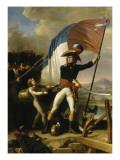 Le Général Augereau conduisant la charge à l'attaque du Pont d'Arcole le 15 novembre 1796 (il est