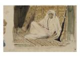 Jeune arabe dans son appartement ou Marocain en blanc ou Jeune chef marocain; 1832