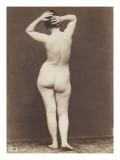 Jeune femme nue debout  de dos