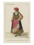 Jeune fille de Caravilli  dans la province de Molise
