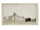 """Recueil de 21 vues de Paris et de ses environs : """"château de Malmaison Façade sur les jardins"""