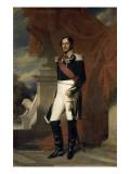 Le duc de Saxe-Cobourg Gotha  Léopold Ier Roi des belges en 1831 représenté