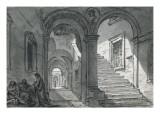 Vue intérieure du Capitole ; Cour du Palazzo Vecchio à Florence ; Vue intérieure du Colisée