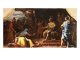 Alexandre le Grand recevant l'annonce de la mort du philosophe gymnosophiste indien Calanus